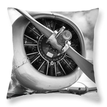 Pratt And Whitney R1340 Wasp Radial Engine Throw Pillow