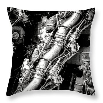 Pratt And Whitney Wasp Major  Throw Pillow