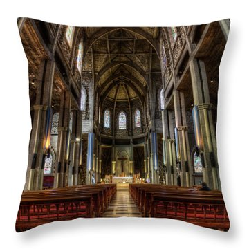 Our Lady Of Nahuel Huapi Cathedral In The Argentine Patagonia Throw Pillow
