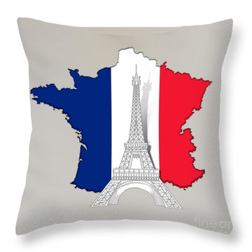 Pray For Paris Throw Pillow
