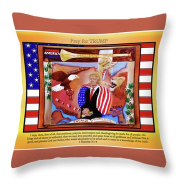 Pray For President Trump Throw Pillow