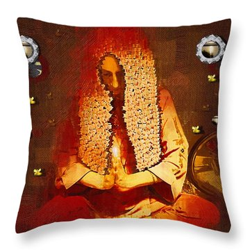 Pray For The Earth Throw Pillow by Pepita Selles