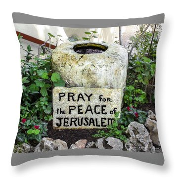 Pray For The Peace Of Jerusalem Throw Pillow