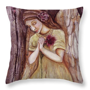 Prayer For All Throw Pillow by Terry Honstead