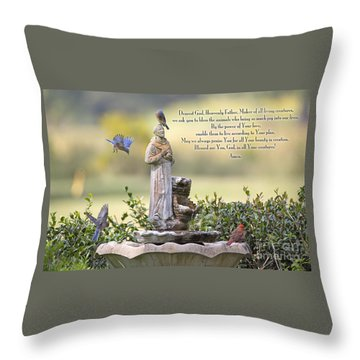 Prayer For The Animals That Bless Our Lives Throw Pillow by Bonnie Barry