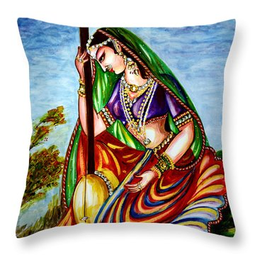 Krishna - Prayer Throw Pillow