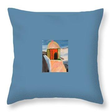 Prayer Hut Throw Pillow