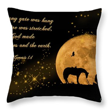 Throw Pillow featuring the photograph Prayer Of A Cowboy by Bonnie Barry