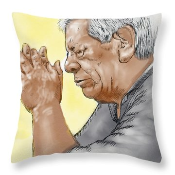 Prayer Of A Righteous Man Throw Pillow