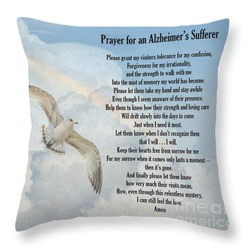 Prayer For An Alzheimer's Sufferer Throw Pillow by Bonnie Barry