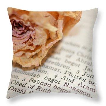 Prayer Throw Pillow by Renie Rutten