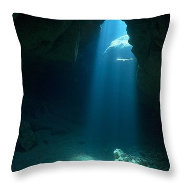 Throw Pillow featuring the photograph Prayer Room by Aaron Whittemore