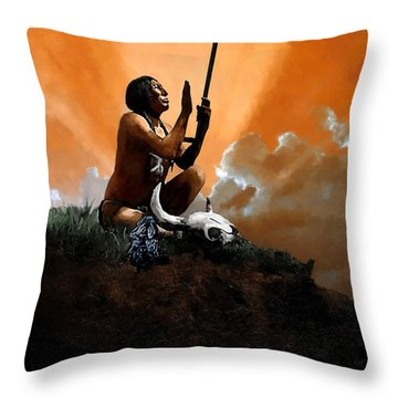 Prayer To The Great Mystery Throw Pillow