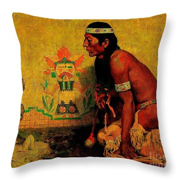 Prayer To The Rain God Throw Pillow