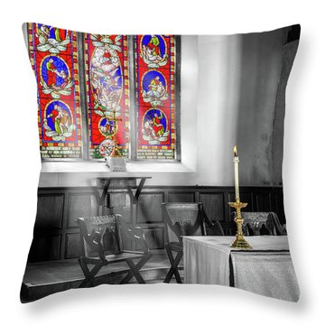Throw Pillow featuring the photograph Prayers And Hope by Adrian Evans