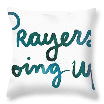 Prayers Going Up- Art By Linda Woods Throw Pillow