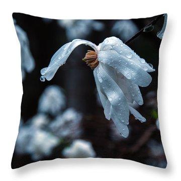 Prayers Of Flowers Throw Pillow by Lori Miller