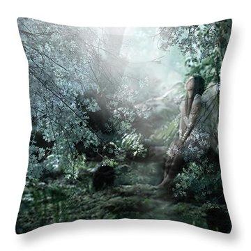 Praying Angel Throw Pillow by Kume Bryant