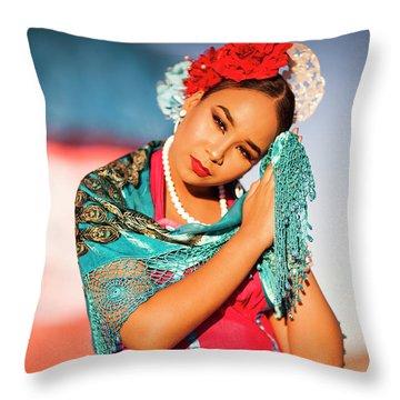 Praying Cathy Throw Pillow
