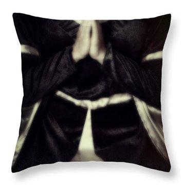 Praying Throw Pillow by Joana Kruse