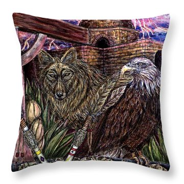 Praying Throw Pillow