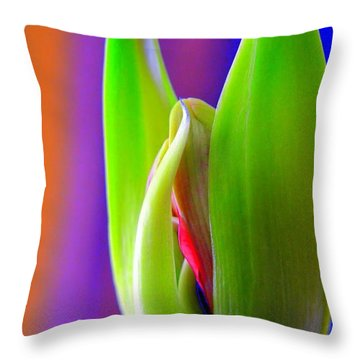 Praying Leaves Throw Pillow