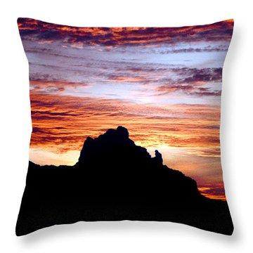 Praying Monk, Camelback Mountain, Phoenix Arizona Throw Pillow