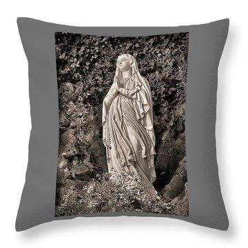 Throw Pillow featuring the photograph Praying Nun by Elf Evans