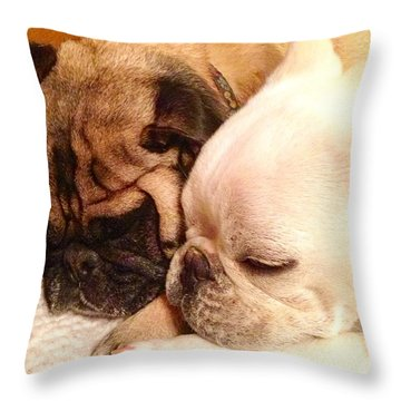 Praying Paws Throw Pillow by Russell Keating