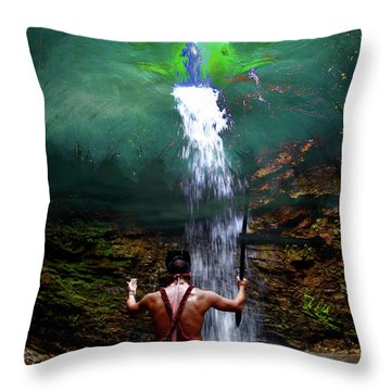 Throw Pillow featuring the photograph Praying To The Spirits by Al Bourassa