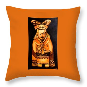 Pre Columbian God Throw Pillow