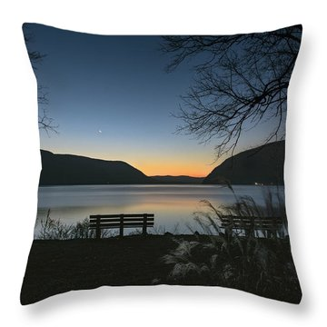 Dawn At Plum Point Throw Pillow by Angelo Marcialis