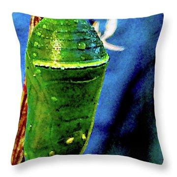 Pre-emergent Butterfly Spirit Throw Pillow by Gina O'Brien