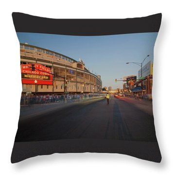 Pre-game Cubs Traffic Throw Pillow by Sven Brogren