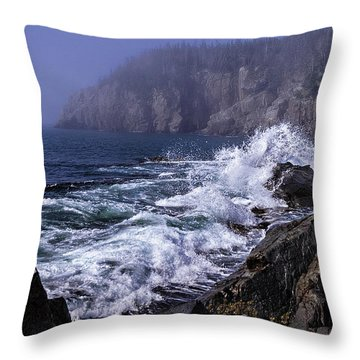 Pre Irene Surge Throw Pillow by Marty Saccone