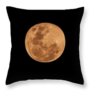 Post-penumbral Moon Throw Pillow by Venura Herath