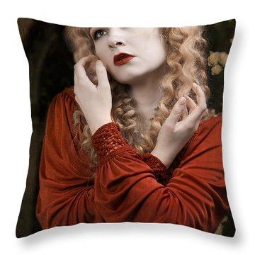 Pre-raphaelite Beauty Throw Pillow
