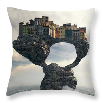 Precarious Throw Pillow