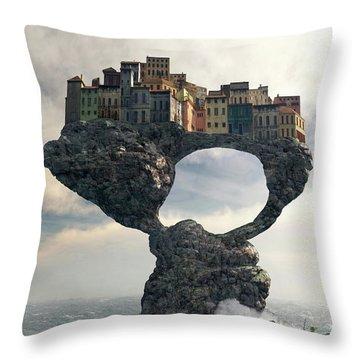 Precarious Throw Pillow