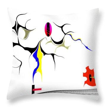 Precarious Study No.7 Throw Pillow