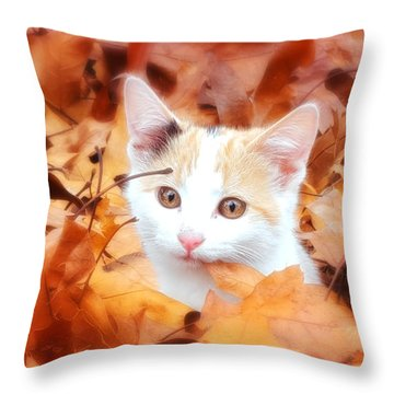 Precious Fall Throw Pillow by Julie Clements