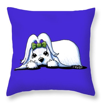 Precious Maltese Throw Pillow