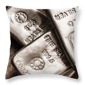Precious Metal Art Throw Pillow
