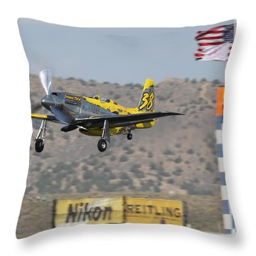 Precious Metal At Reno Air Races 2014 Throw Pillow