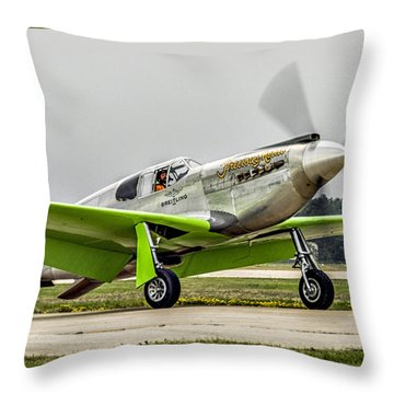 Throw Pillow featuring the photograph Precious Metal Final Flight by Alan Toepfer