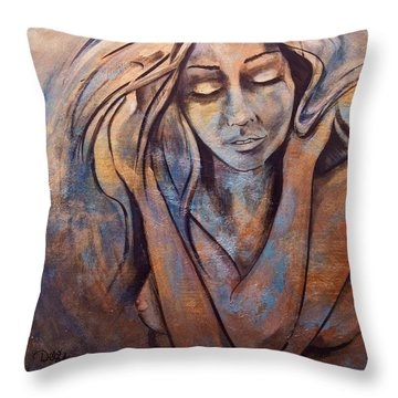 Precious Metals IIi Throw Pillow