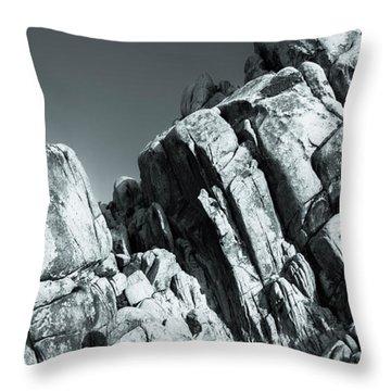 Precious Moment - Juxtaposed Rocks Joshua Tree National Park Throw Pillow