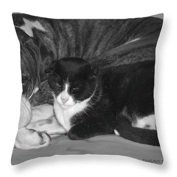 Precious Pals Throw Pillow by DigiArt Diaries by Vicky B Fuller