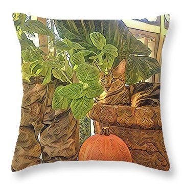 Precious Pumpkin Throw Pillow