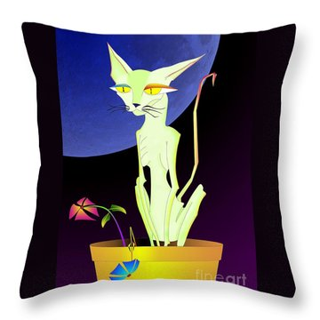 Precious The Cat Throw Pillow